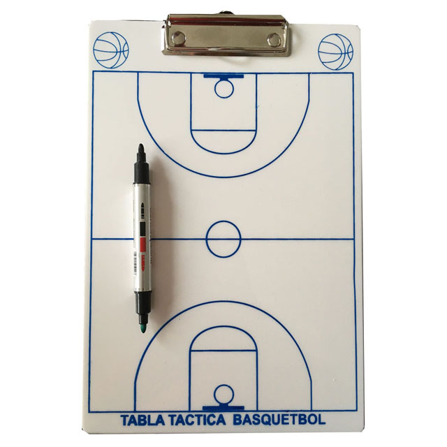 TABLA TACTICA BLANCA BASQUETBOL SGAIJE