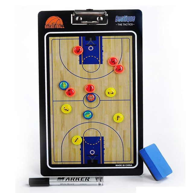 TABLA TACTICA MAGNETICA SGAIJE DOBLE CARA BASQUETBOL